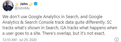 Google: мы не используем данные Google Analytics для ранжирования сайтов